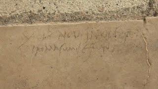 L'iscrizione a carboncino che cambia la storia di Pompei