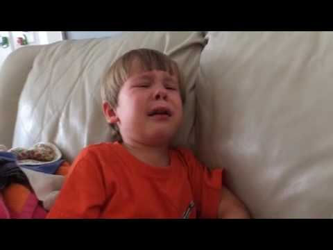Adorable little boy cries after watching E.T.