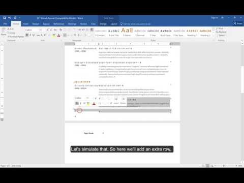 Removing Blank Pages from Microsoft Word Resumes