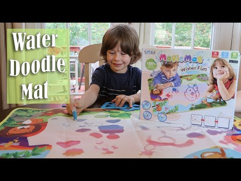 😊SGILE Drawing Doodle Water Mat (Writing Magic Mat) Toy Review COUPON CODE! ⭐