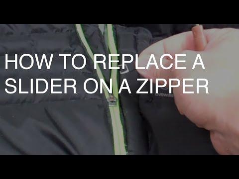 How to Replace a Broken Slider on a Zipper