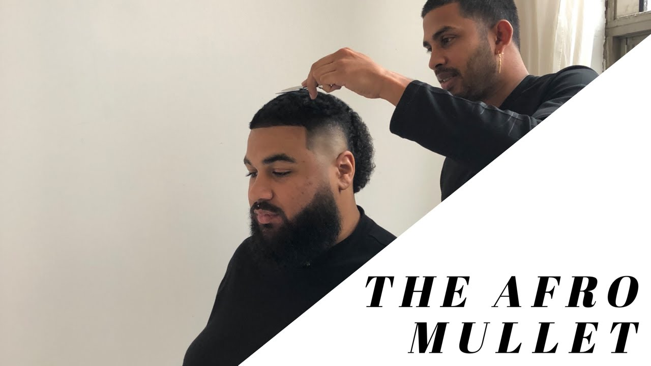 AFRO MULLET HAIRCUT w/@THAD.DEUS - YouTube