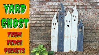 make HALLOWEEN yard GHOST decorations// how to