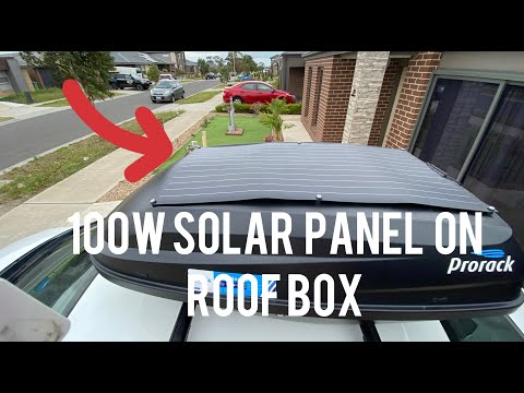 How to Install Solar Panel on Roof Box Pod 100W- Honda Civic Camping