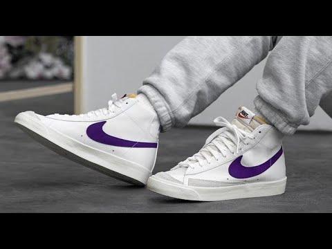 Nike Blazer Mid '77 Vintage Voltage Purple On-Feet - YouTube