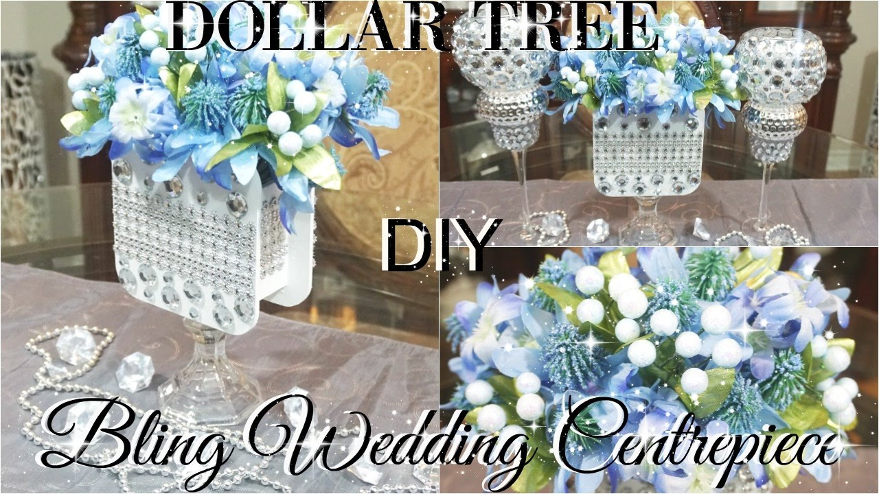 diy dollar tree wedding or bridal shower bling centerpiece petalisbless