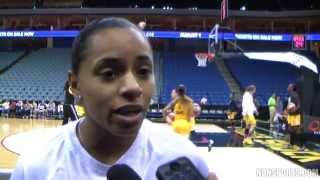 Angel Goodrich Interview  - Tulsa Shock 7/31/2014