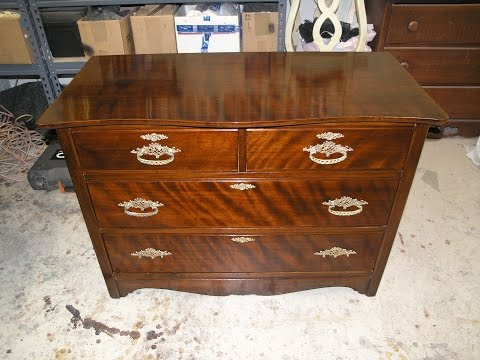 Restoration Antique Dresser hand work finish ,French Polish ,-Madadar- Naples FL