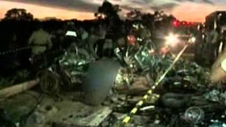 MS Record - Acidente com 4 veículos na BR-267 mata seis pessoas