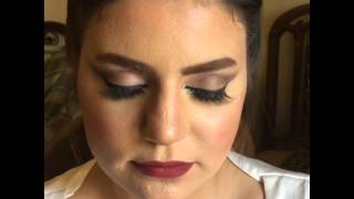 Cat eye bridal makeup by omnia Amin