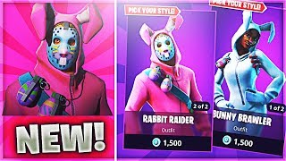 NEW RABBIT RAIDER & BUNNY BRAWLER SKINS! (FORTNITE EASTER UPDATE)
