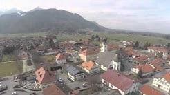 Flug über Grassau im Chiemgau
