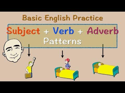 Subject + Verb + Adverb Pattern | English Speaking Practice | ESL | EFL