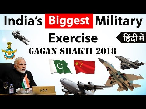 Gagan Shakti 2018 - India's biggest military exercise - Two front War with China Pakistan