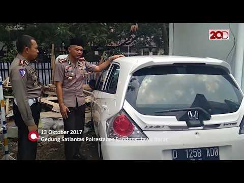 Rusak Parah, Begini Kondisi Mobil Pelaku Tabrak Lari di Bandung
