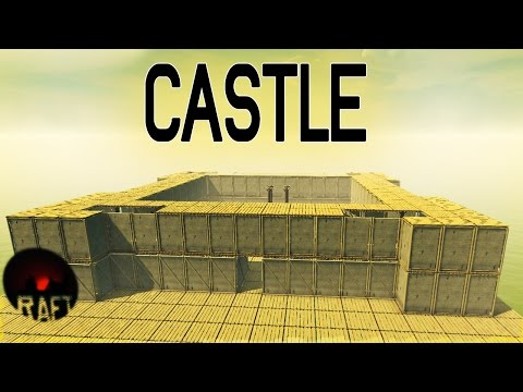 Fallout 4 Inspired Castle! - Raft Gameplay - Unlimited Resources (Creative Mode) - Let's Play Raft