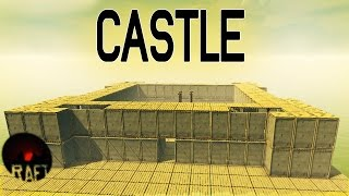 Fallout 4 Inspired Castle - Raft Gameplay - Unlimited Resources Creative Mode - Let s Play Raft