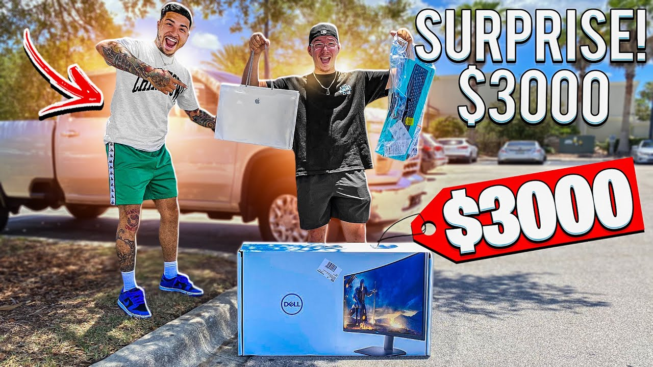 SURPRISING MY CAMERA MAN WITH A $3000 DOLLAR GIFT ! ( EMOTIONAL )    BRAAP VLOGS