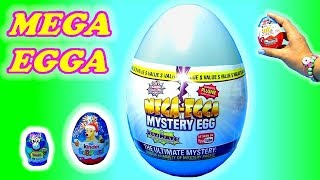 MEGA EGGA mystery egg toys review. SO Whats inside ? Kinder egg