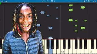 YNW Melly ft. Kanye West - Mixed Personalities - Piano Tutorial