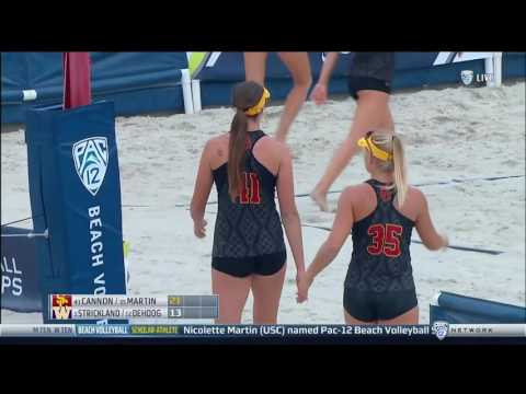 Beach Volleyball: Pac-12 Championship - USC 5, Washington 0 - Highlights 4/28/17