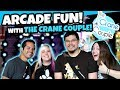 The Crane Couple meets Dragon Claw Games! Let's Play Arcade Games at Round 1 Arcade!