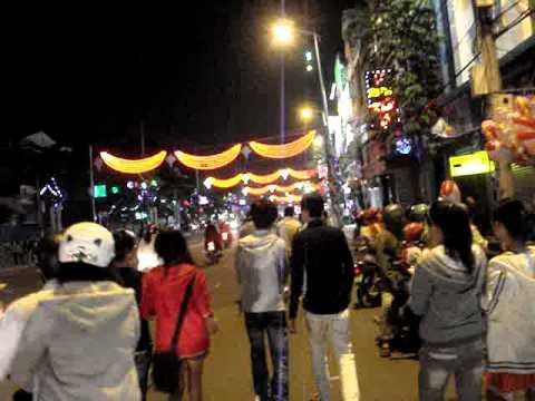 Christmas Lights in Nha Trang Vietnam 2011