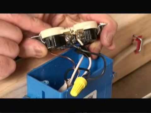 3 Way Switch 2 Lights Wiring Diagram Rheem Water Heater How To Wire A Half Switched Outlet Video Youtube