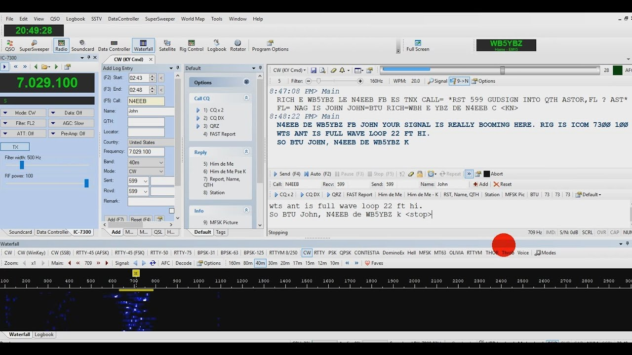How to Send and Receive CW Ham Radio Deluxe HDR Icom 7300
