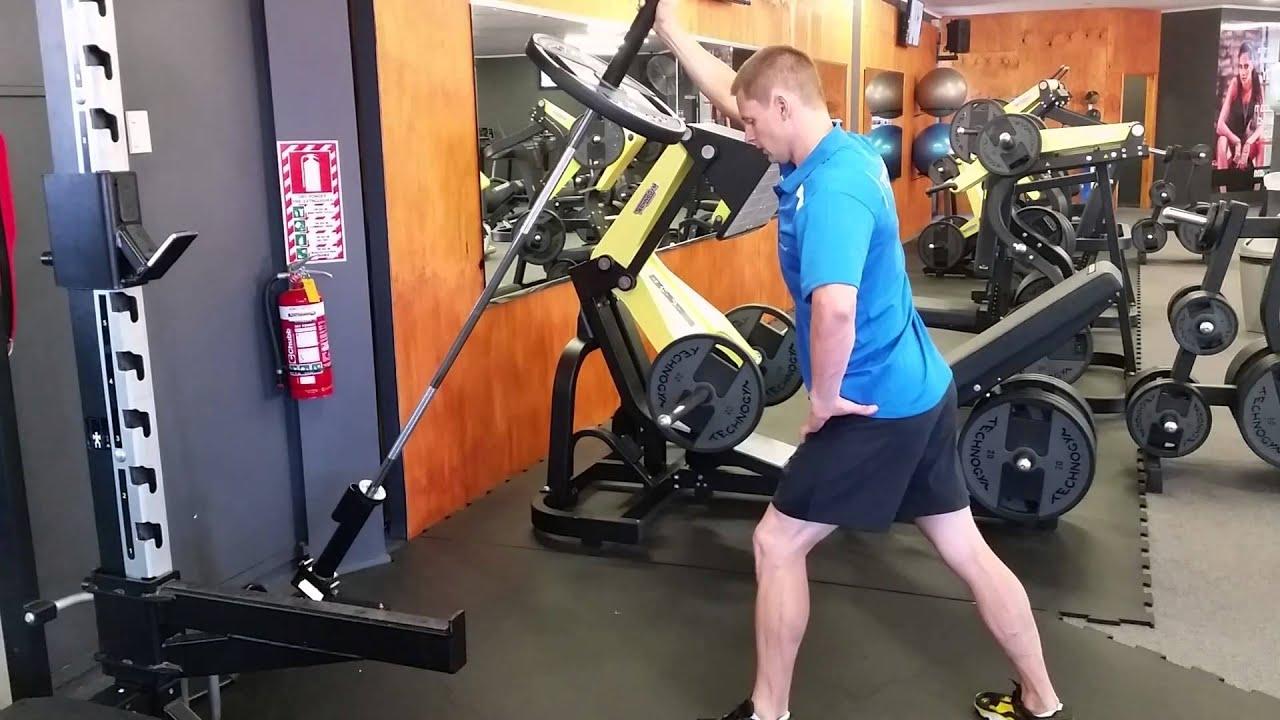 Gavyn Berntsen one arm barbell shoulder press