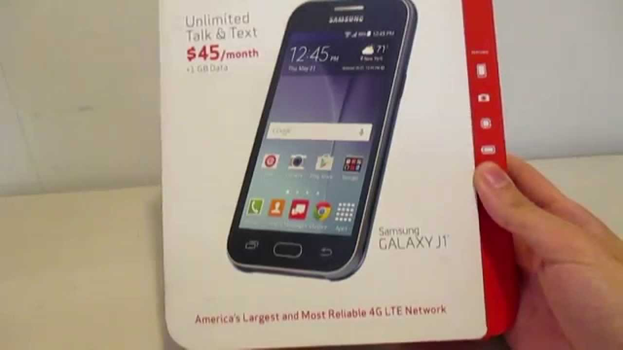 iphone verizon prepaid. samsung galaxy j1 verizon prepaid - unboxing iphone
