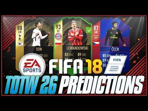 FIFA 18 - TOTW #26 PREDICTIONS ft. 93 SIF Lewandowski, 87 RB Cech, 88 TIF Son - #FIFA18 #TOTW26