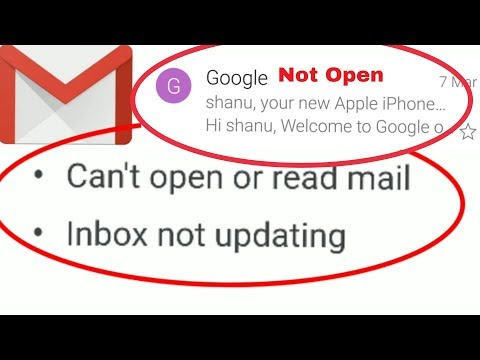 Fix Google Gmail App | Can't Open Or Read Mail Inbox Not Updating In Android