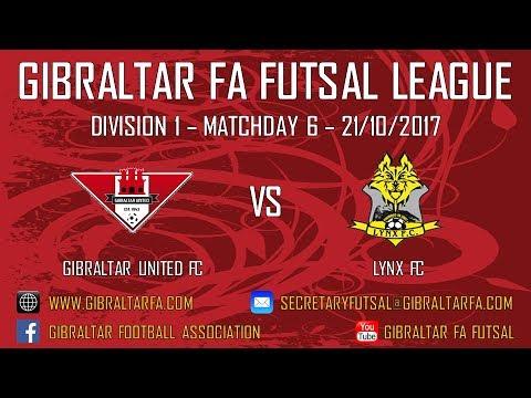 Division 1 - Gibraltar United FC 1 vs 9 Lynx FC - 21/10/2017