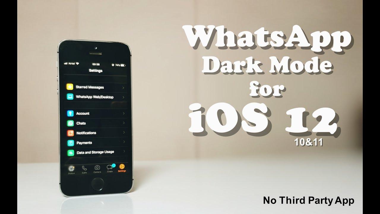 How to Get WhatsApp Dark Mode on iOS 20