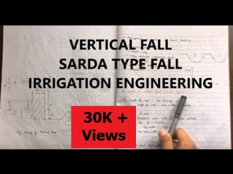Sarda Type Fall Vertical Fall Design Regulating Structures