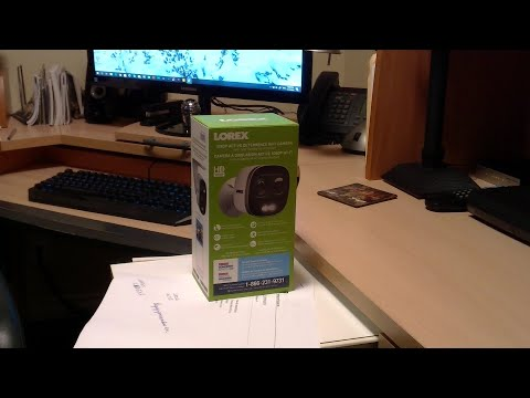 Lorex  LNW16XF WiFi security camera - Unboxing