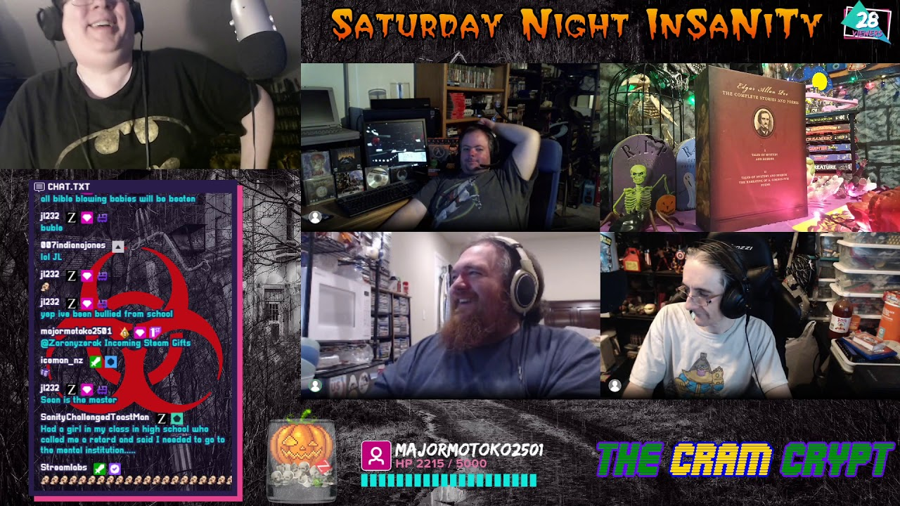 LAPTOP NIPPLES! Saturday Night InSaNiTy PODCAST! Movies! Gaming! Collecting! MORE! (July 4, 2020)