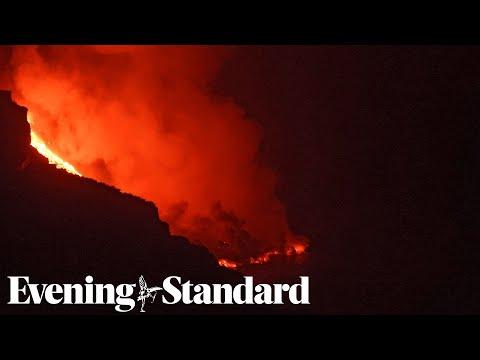 La Palma Volcano: Fears for toxic gas as lava reaches Atlantic Ocean