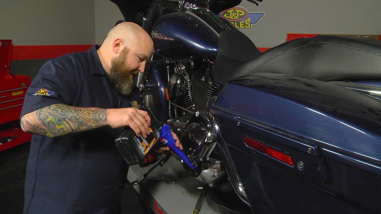 How to Change Primary Oil on Harley-Davidson Touring Models by J&P Cycles