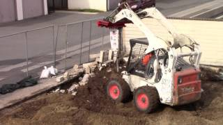 Little Bobcat Drilling - Tractors, Trains and Planes - Videos for Children