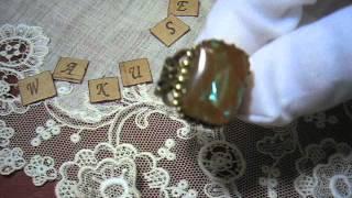 ~サフィレットの指輪~ オクタゴンXL  魔法の国の宝石(ガラス)