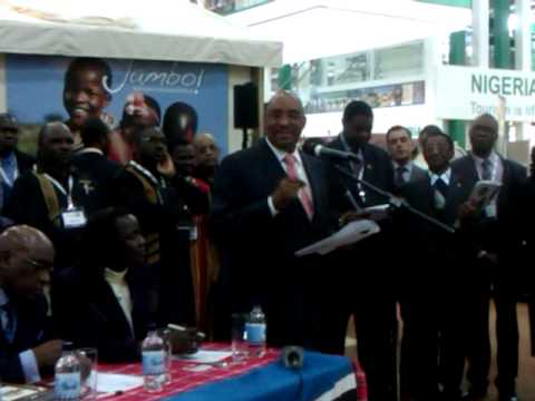 Kenya Tourism Minister Danson Mwazo Press Conference World Travel Market London