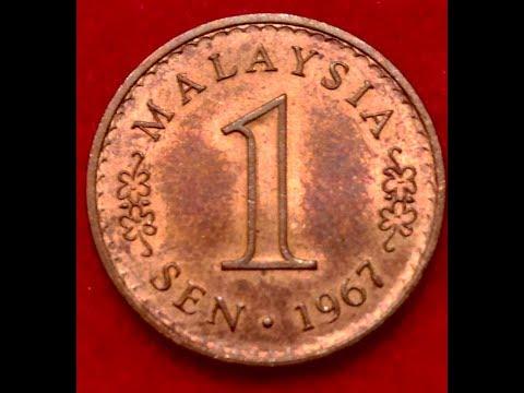 1 Sen Malaysia Coin Dated 1967