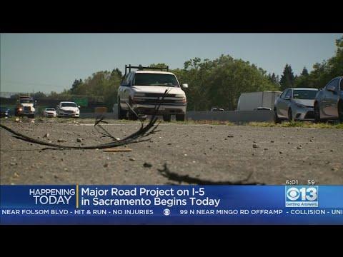 Major I-5 Project From Sacramento Elk Grove Begins