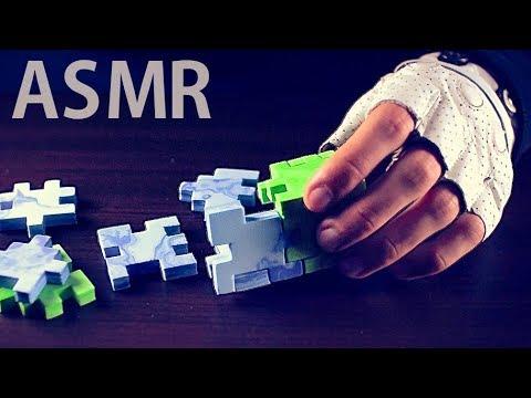 [ASMR] Assembling Marble FOAM Cube 3D Puzzle #2 (Blue) - NO TALKING
