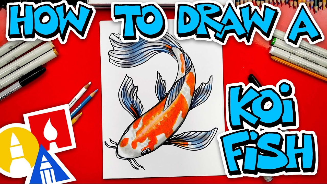 How To Draw A Koi Fish - Advanced (13 and UP)