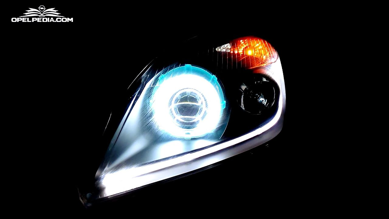 hight resolution of opel astra h tutorial how to change headlamps halogen to xenon conversion