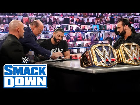 WWE Champion vs. Universal Champion contract signing: SmackDown, Nov. 20, 2020