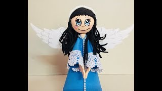 DIY EVA Foam Doll, DIY Fofucha Doll, DIY Foam Angel, DIY Christmas Crafts, Easy Foam Doll